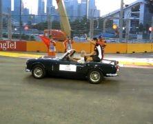 Parada kierowców w Singapurze
