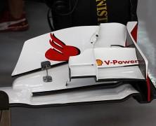 Przednie skrzydło Ferrari według przepisu Newey'a?