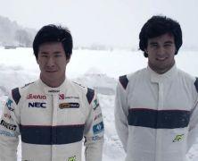 Bardzo zimowe życzenia od kierowców Saubera