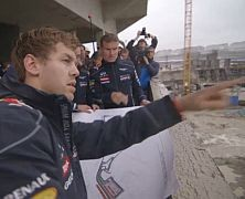 Vettel obejrzał trasę toru w Soczi