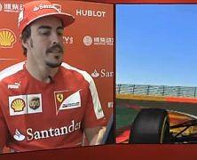 Okrążenia toru Spa z Fernando Alonso