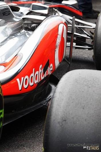 Hamilton's car after Q3, Belgium GP 2011